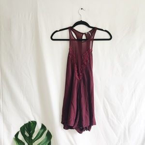 Urban Outfitters Intimates Wine Teddy / Romper